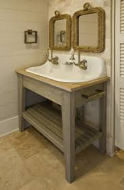 Cottage Bathroom Vanities by Gray Washed Bathroom Vanity Design Ideas