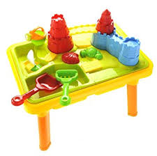 amazon com sandbox castle 2 in 1 sand and water table with beach