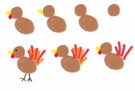 simple turkey drawing thanksgiving marshmallow the decorated