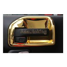 gold jeep wrangler gold car interior door handle bowl cover decor fit for jeep