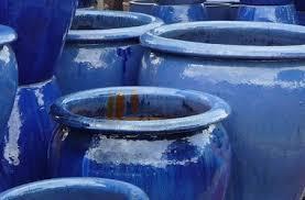 large glazed pots garden planters and vases woodside garden