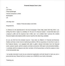 cover letter financial analyst the example of cover letter cover