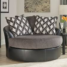 Swivel Chairs Living Room Furniture Kumasi Smoke Oversized Swivel Chair Chairs Living Room