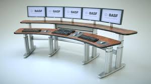 tbc smarttrac broadcast console desks adjustable console desks