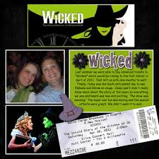 wicked halloween tickets wicked scrapbook com i need to do this w my wicked ticket