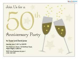 free printable 50th wedding anniversary invitations invitations