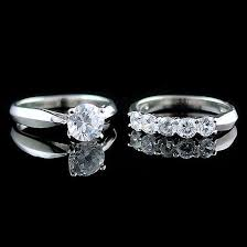 wedding ring sets for women 2 1ct on russian cz womens wedding ring set 1000jewels