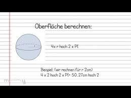 kugeloberfl che berechnen berechnungen der kugel oberfläche und volumen
