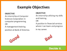 Objective Of Resume For Internship 12 Objective Resume Internship Authorize Letter
