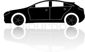 a picture of a car a silhouette of a car stock vector colourbox