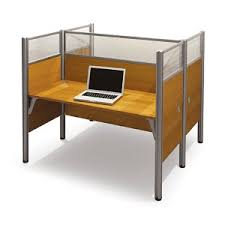 Cappuccino Computer Desk Double Sided Computer Desk Including Convenience Concepts Bestar