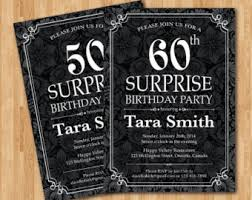 surprise 21st 30th 40th 50th chalkboard style birthday