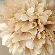 Flower Ball Amazon Com 10pcs Khaki Tissue Hanging Paper Pom Poms Hmxpls