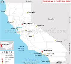 map of burbank ca is burbank california