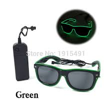 party sunglasses with lights top selling neon el cold light sunglasses holiday lighting green