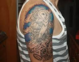 alfa img showing u003e half sleeve owl tattoo owl half sleeve