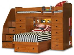 Art Van Desks by Twin Bed With Storage For Kids Transparent Window Bedroom Wooden
