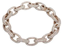 rose link bracelet images Mens 14k rose gold genuine diamond 11mm interlocking link bracelet jpg
