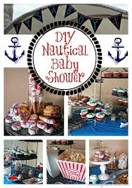 themed baby shower nautical baby shower ideas recipes and free printables