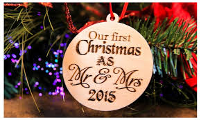 our as mr mrs ornament groupon