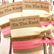Thank You Favors by Bridesmaid Gift Hair Ties Thank You For Helping Us Tie The Knot