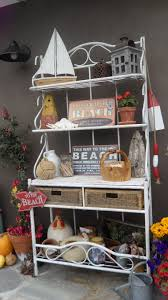 Bakers Rack Console Re Use Old Bakers Rack My Diy Projects Pinterest Bakers Rack