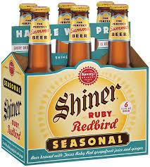 shiner light blonde carbs shiner seasonals dortmunder ruby redbird oktoberfest holiday cheer