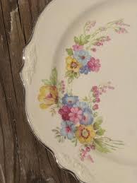 homer laughlin patterns virginia laughlin virginia floral bouquet plates lot 40s vintage