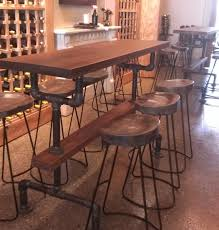 bar height table industrial industrial farmhouse bar height kitchen table the with regard to