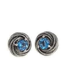 blue topaz earrings topaz earrings hsn