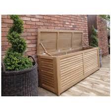 Patio Cushion Storage Fsc Teak 1 8m Outdoor Cushion Storage Box Outdoor Commercial