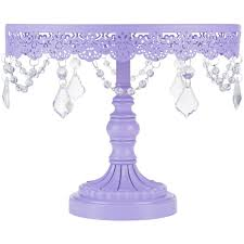 10 inch crystal draped lavender purple cake stand amalfi decor au