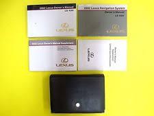 lexus is owners manual lexus ls430 owners manual ebay