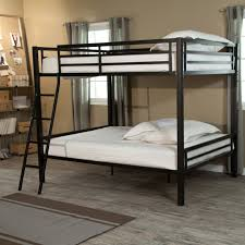 Duro Hanley Full Over Full Bunk Bed Silver Hayneedle - Double top bunk bed