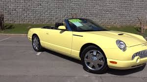 2002 Ford Thunderbird Premium Stock by 2002 Ford Thunderbird Convertible Inspiration Yellow Youtube