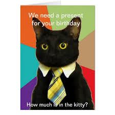 cat birthday cards u0026 invitations zazzle co uk