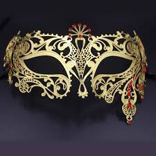 gold masquerade mask luxury gold rhinestones venetian metal masks laser cut silver