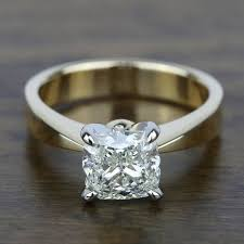 flat engagement rings flat taper solitaire engagement ring in yellow gold