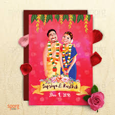 Marriage Invitation Cards In Bangalore Sporg Studio Provides Illustrated Wedding Card Service With Utmost