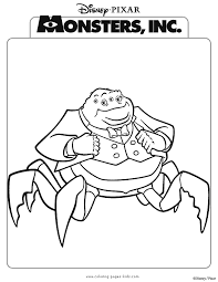 monsters coloring pages coloring pages kids disney