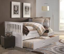 Twin Size Bedroom Furniture Cambridge White Captains Trundle Bed Twin Size Bed Frames Day