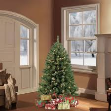 puleo 4 5 ft pre lit northern fir artificial tree with