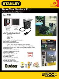 Westek Outdoor Timer by Stanley 31215 Timermax Outdoor Pro Grounded 2 Outlet Mechanical