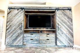 akers built in entertainment center porter barn wood