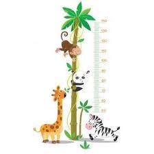 stickers jungle chambre bébé sticker toise bébé animaux jungle déco jungle bébés
