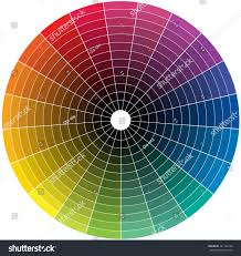 color wheel transition black middle stock vector 221143195