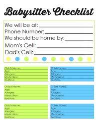 25 unique babysitter checklist ideas on pinterest babysitting