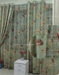 floral green country eco friendly living room curtains drapes