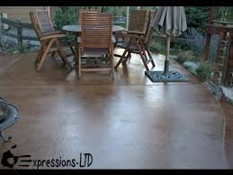 Outdoor Concrete Patio Paint How To Acid Stain A Concrete Patio Floor Youtube