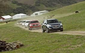dodge durango comparison three row crossover suvs comparison 2011 chevrolet traverse
